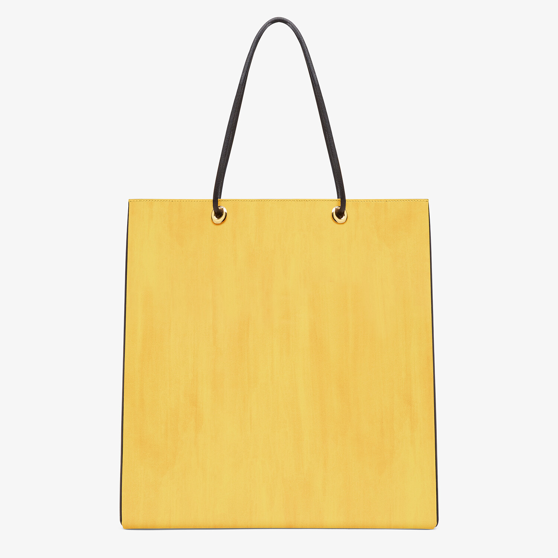FENDI FENDI PACK MEDIUM SHOPPING BAG - Yellow leather bag - view 3 detail