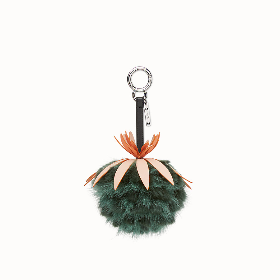 FENDI FENDI FRUITS手袋吊飾 - 綠色皮草吊飾 - view 1 detail