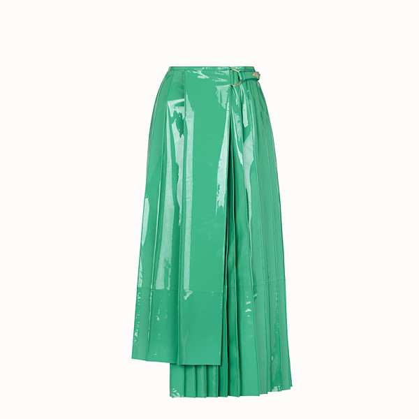 FENDI SKIRT - Green patent leather skirt - view 1 small thumbnail