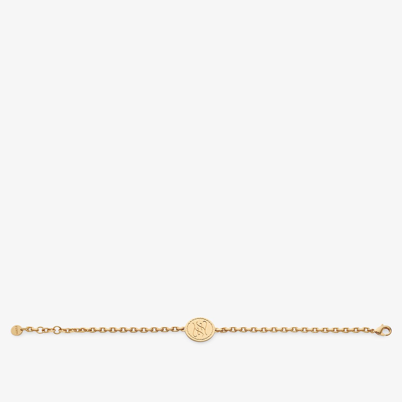 FENDI BRACELET - Golden metal bracelet - view 1 detail