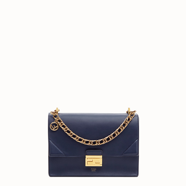 FENDI KAN U - Blue leather bag - view 1 small thumbnail