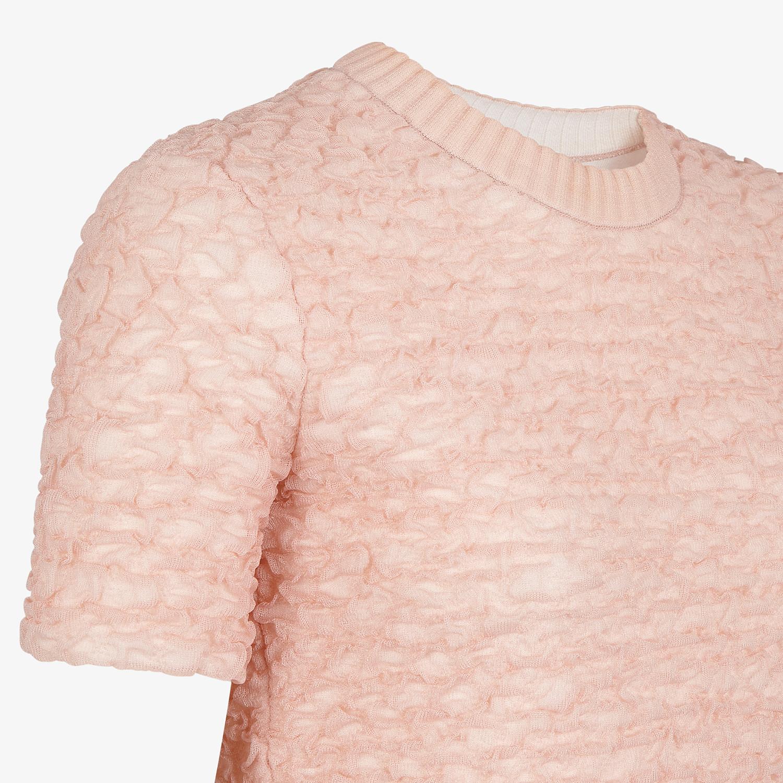 FENDI JUMPER - Pink viscose jumper - view 3 detail
