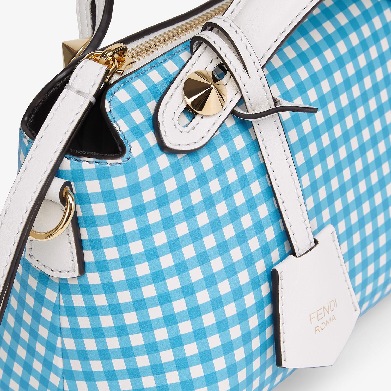 FENDI BY THE WAY MINI - Leather Vichy print Boston bag - view 5 detail