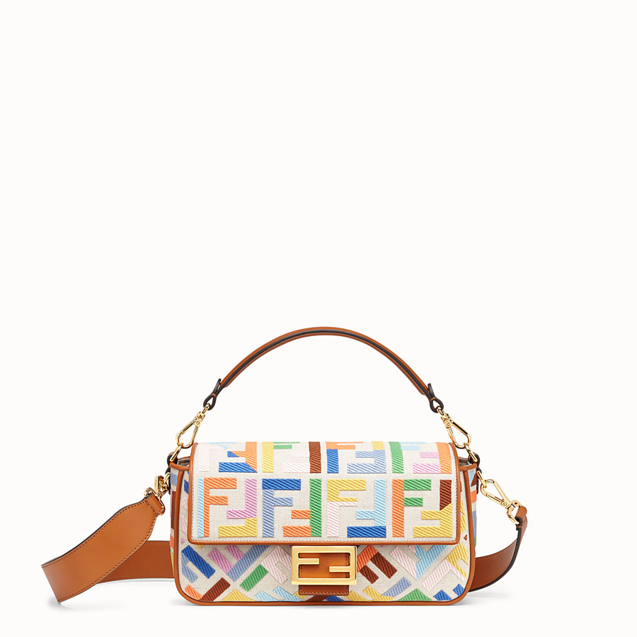 FENDI BAGUETTE - Beige canvas bag - view 1 detail