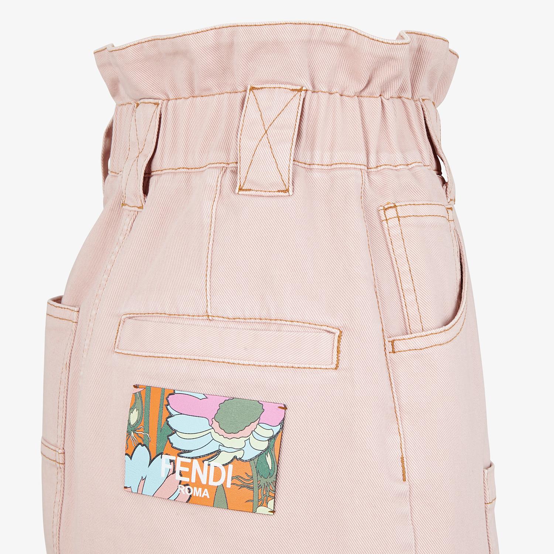 FENDI SKIRT - Pink denim skirt - view 3 detail
