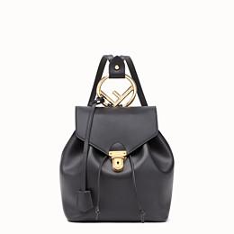 FENDI BACKPACK - Black leather backpack - view 1 thumbnail