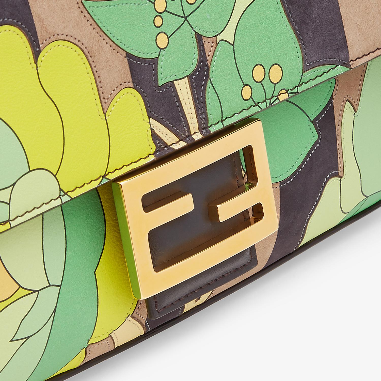 FENDI BAGUETTE - Brown nubuck leather bag - view 6 detail