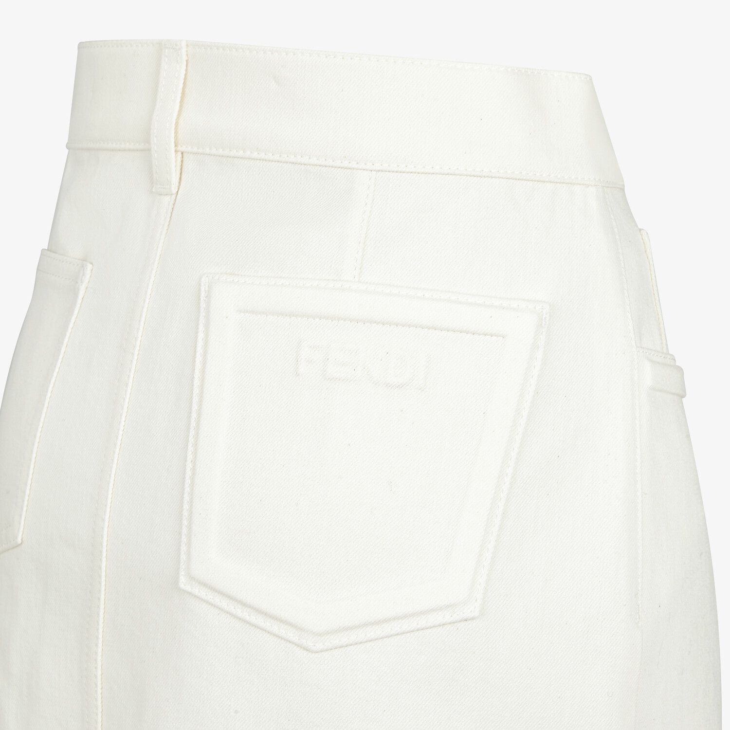 FENDI SKIRT - White denim skirt - view 3 detail