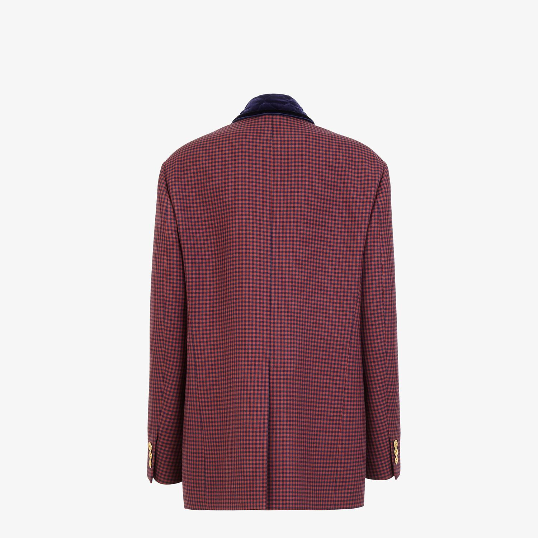 FENDI JACKET - Check wool blazer - view 2 detail