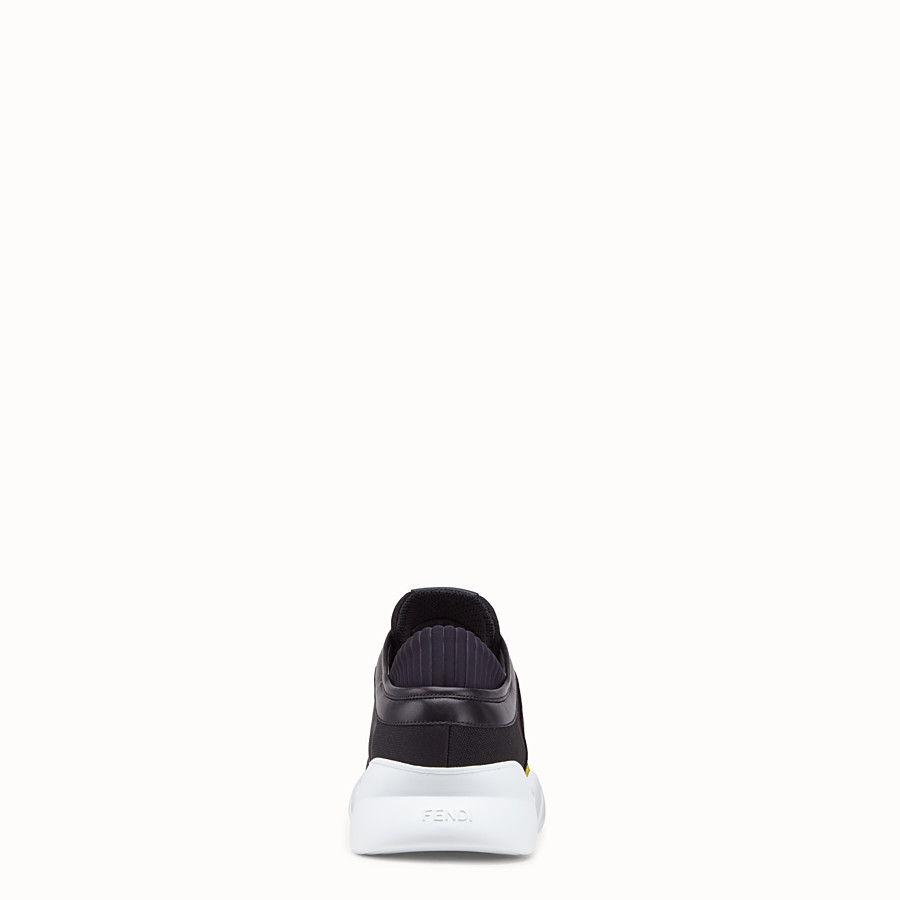 FENDI SNEAKERS - Black tech fabric sneakers - view 3 detail