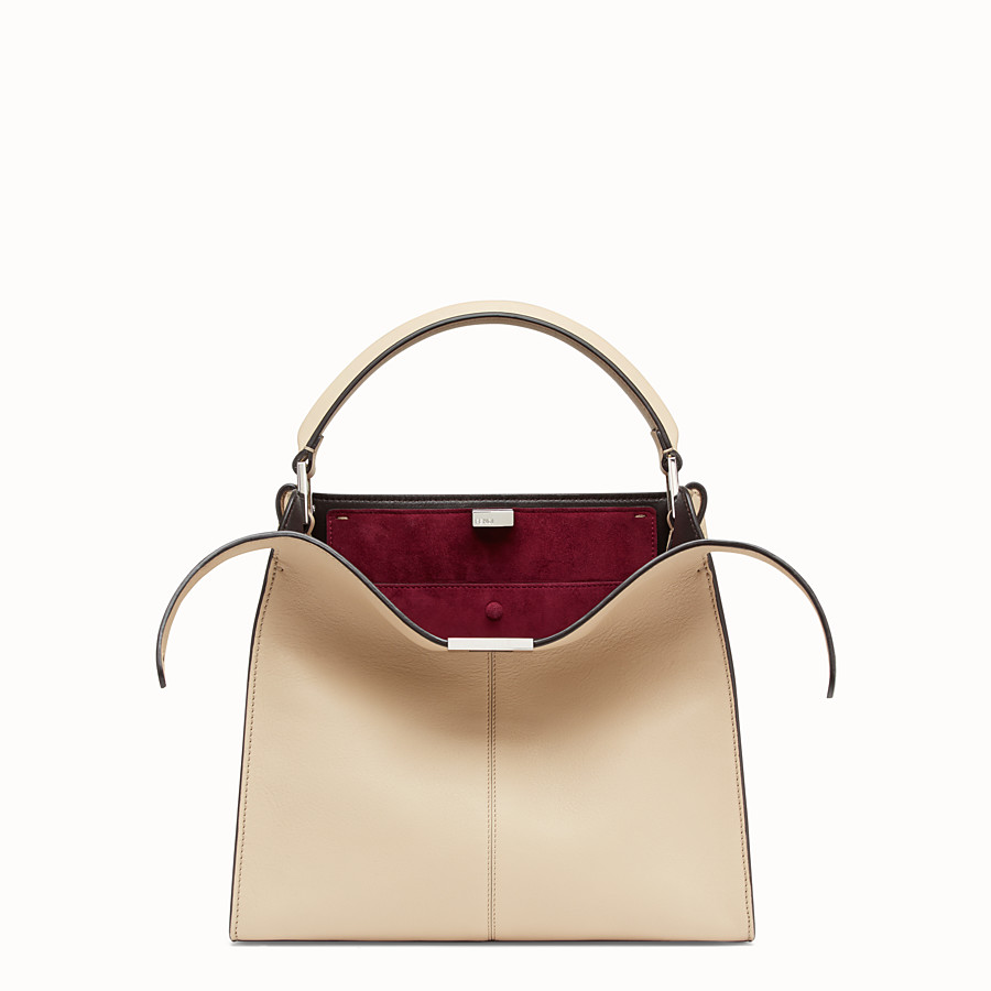 FENDI PEEKABOO X-LITE REGULAR - Beige leather bag - view 1 detail
