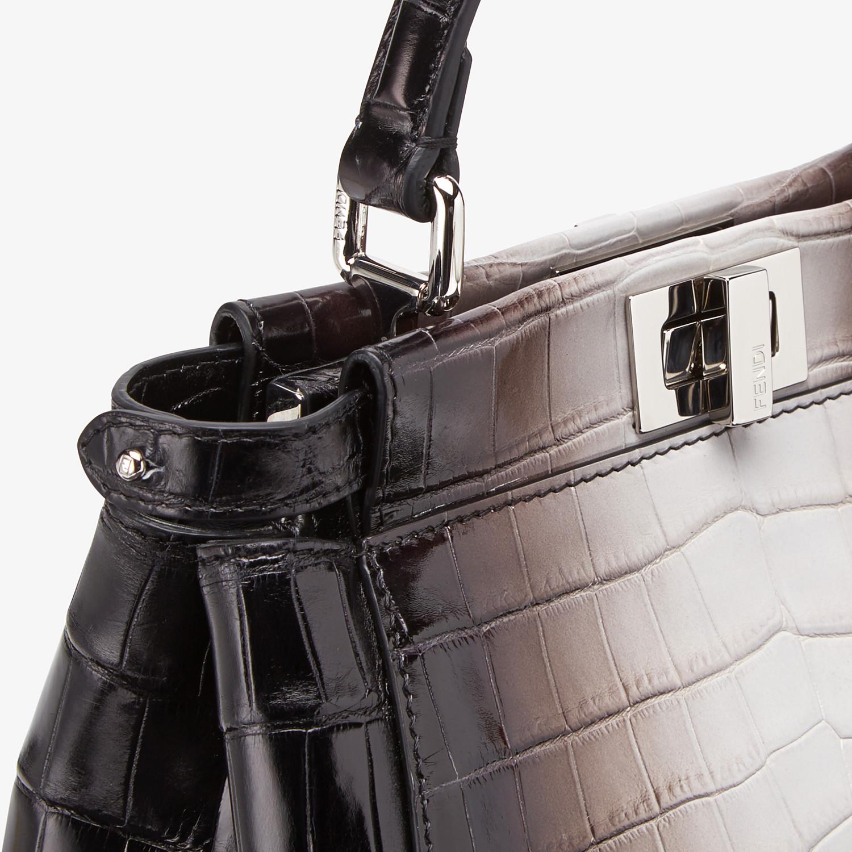 FENDI PEEKABOO ICONIC MINI - Crocodile leather bag in graduated colors - view 5 detail