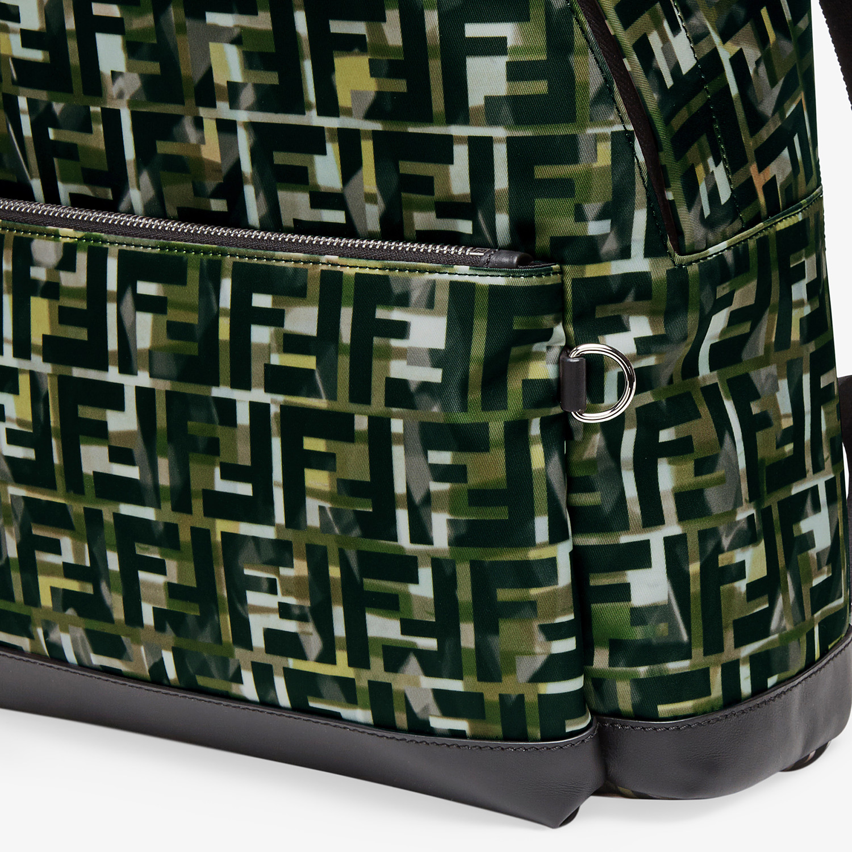 FENDI BACKPACK - Multicolor nylon backpack - view 4 detail