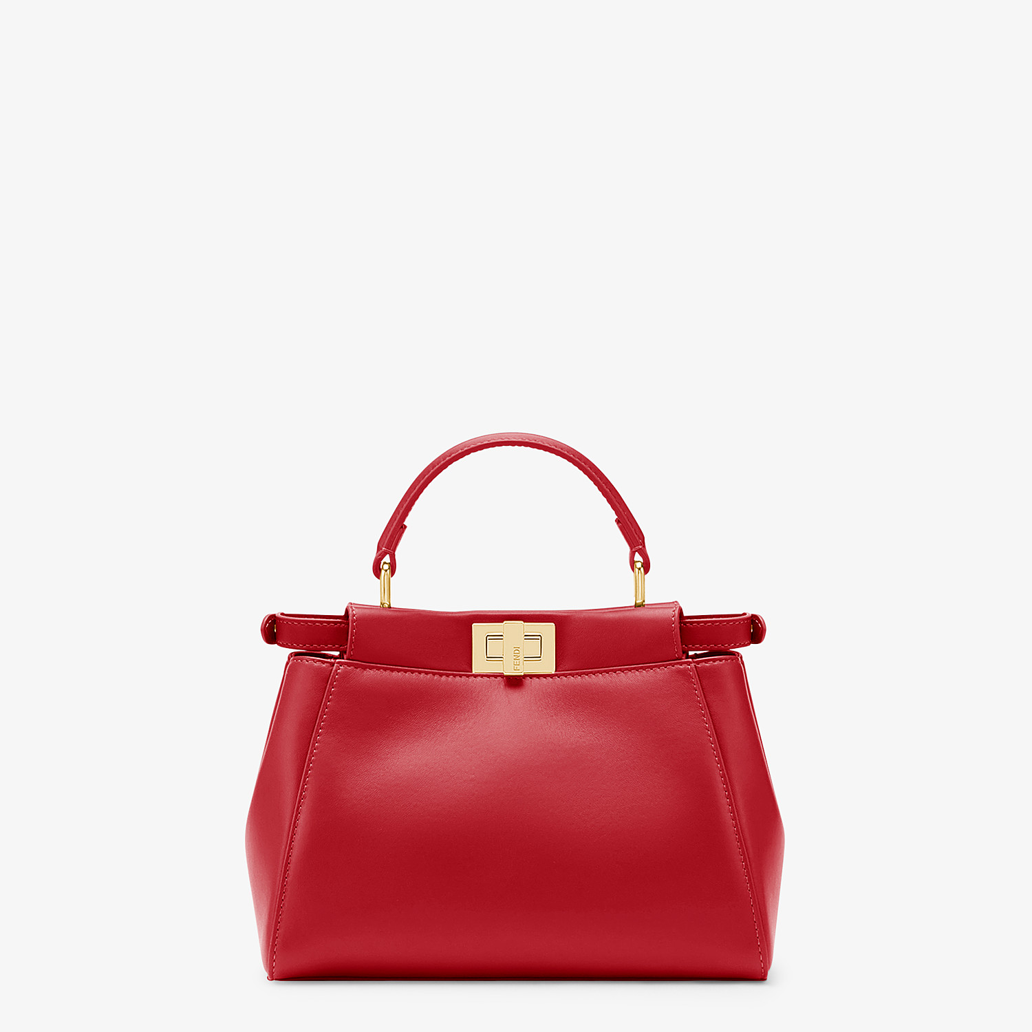 FENDI PEEKABOO ICONIC MINI - Red leather bag - view 3 detail