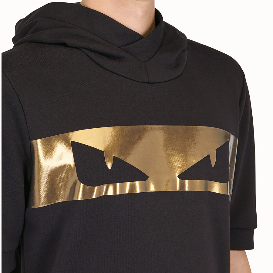 FENDI SWEATSHIRT - Black cotton sweatshirt - view 4 detail