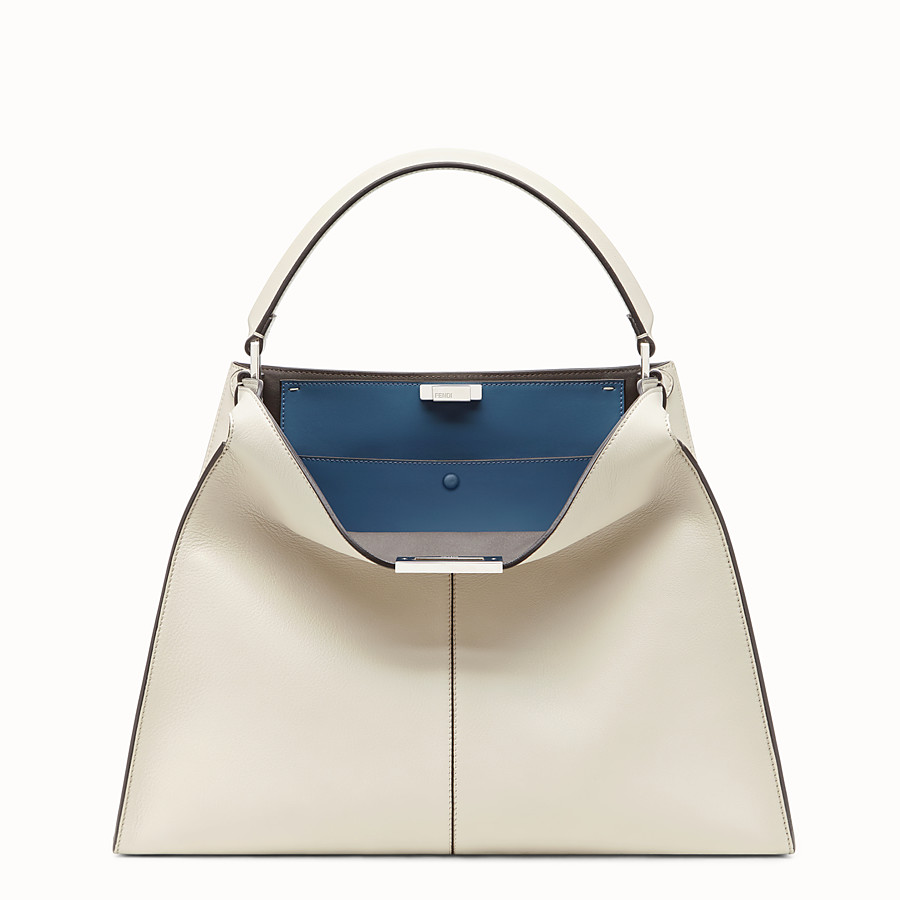 FENDI PEEKABOO X-LITE LARGE - White leather bag - view 3 detail