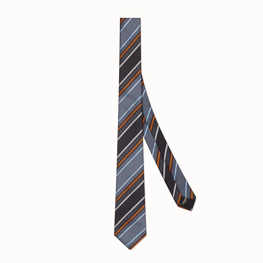 FENDI TIE - Grey silk necktie - view 1 detail