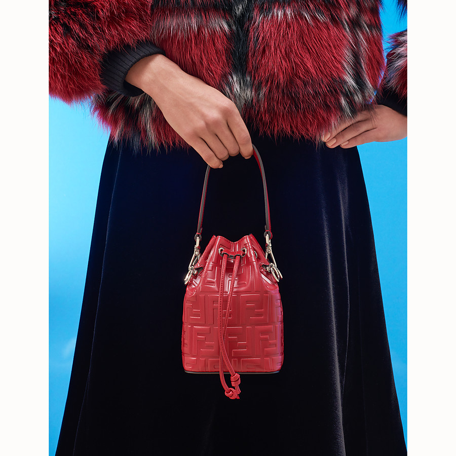 FENDI MON TRESOR - Red leather mini-bag - view 5 detail