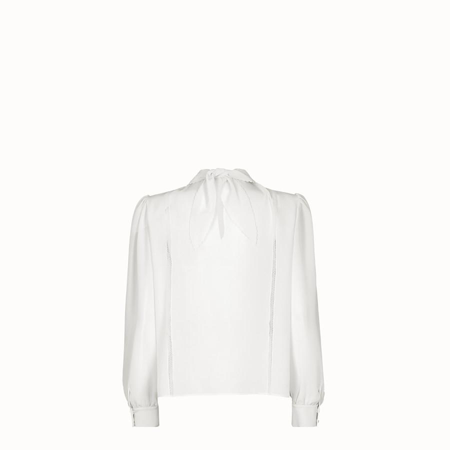 FENDI SHIRT - White crêpe de Chine shirt - view 2 detail
