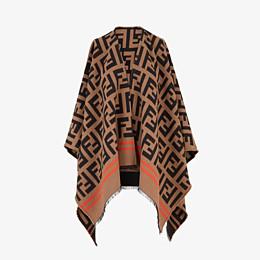 FENDI FF PONCHO - Multicolor wool and silk poncho - view 1 thumbnail