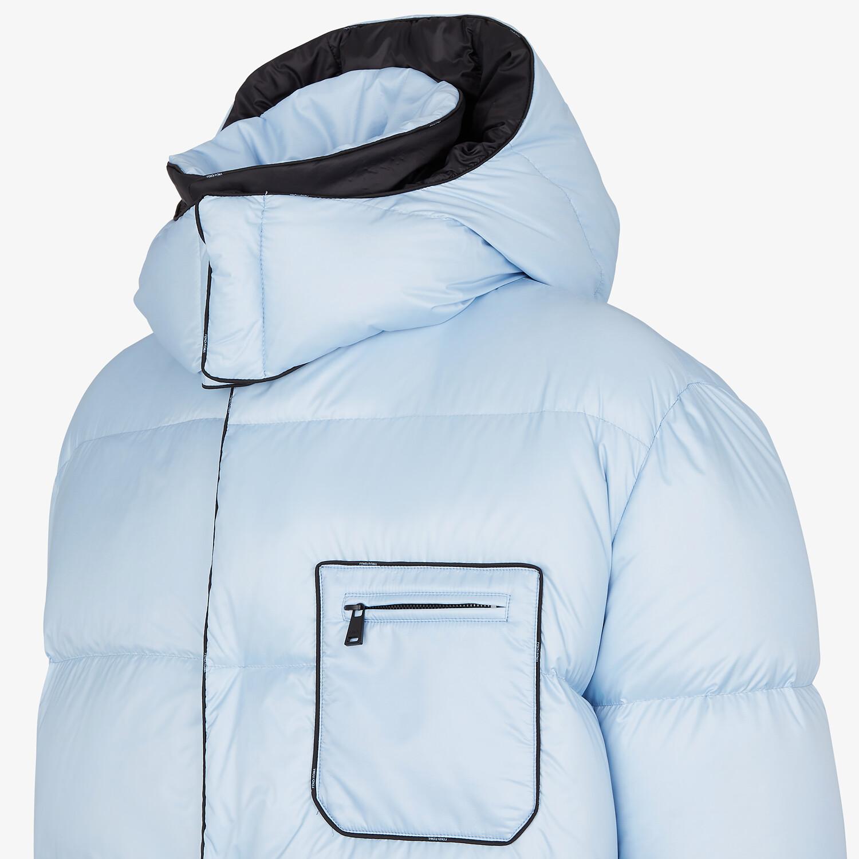 FENDI DOWN JACKET - Light blue nylon down jacket - view 3 detail