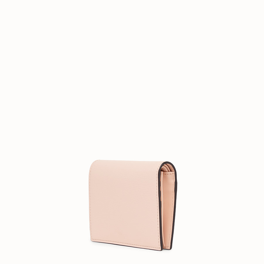 FENDI BIFOLD - Pink leather compact wallet - view 2 detail