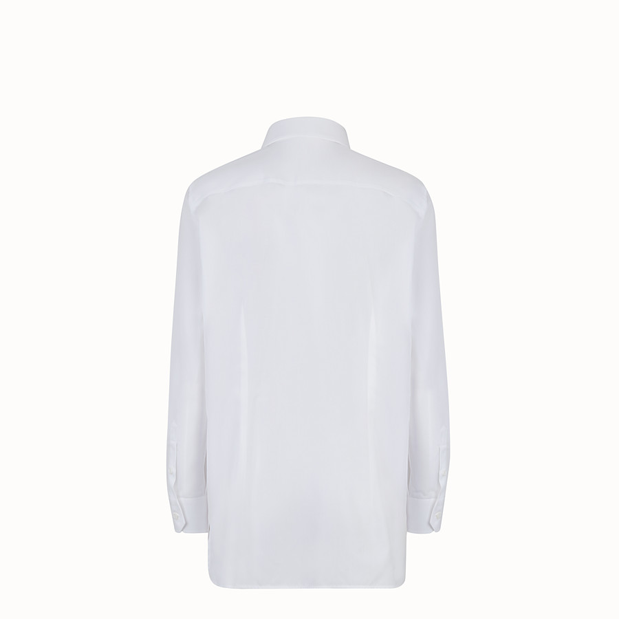 FENDI SHIRT - Shirt in white poplin - view 2 detail