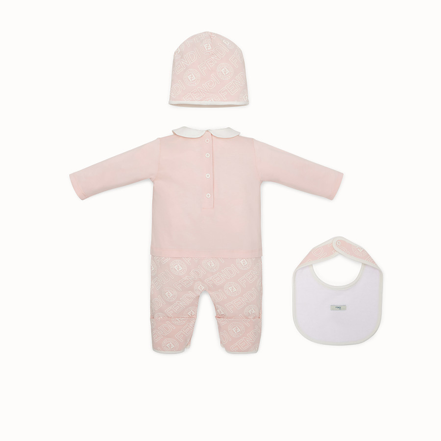 FENDI BABY'S KIT - Pink cotton jersey baby kit - view 2 detail