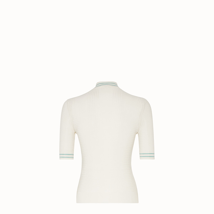 FENDI PULLOVER - White silk jumper - view 2 detail