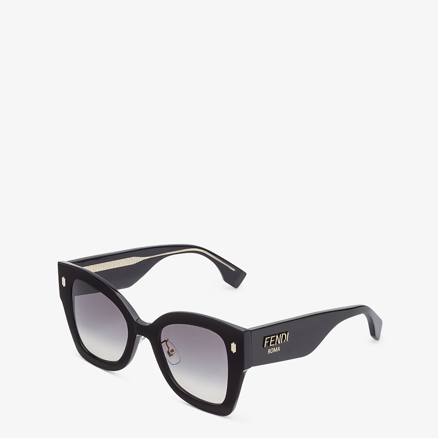 FENDI FENDI ROMA - Black acetate sunglasses - view 2 detail