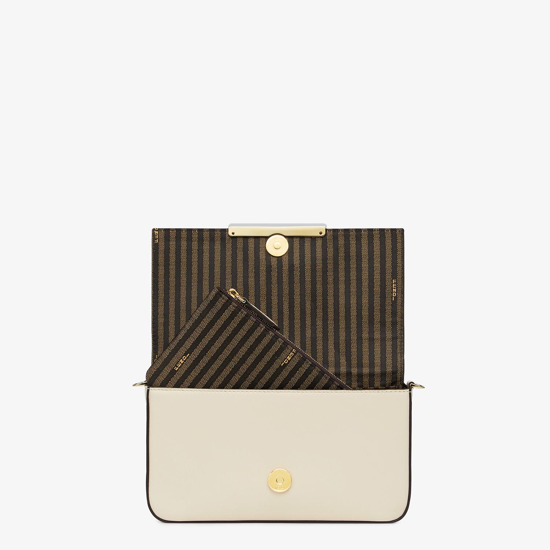 FENDI WALLET ON CHAIN WITH POUCHES - White leather mini-bag - view 6 detail