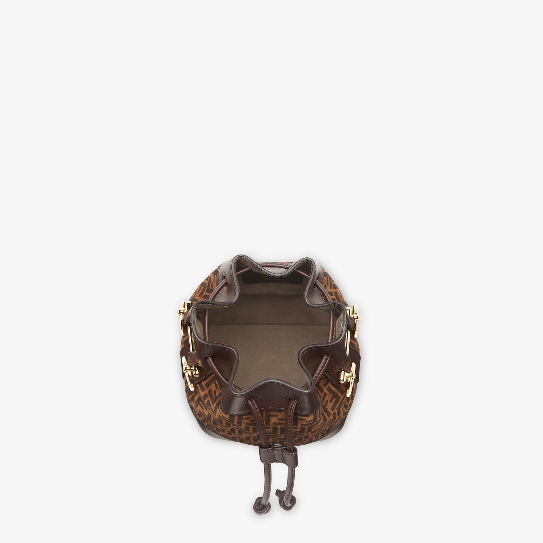 FENDI MON TRESOR - Brown leather mini-bag with FF print - view 5 detail