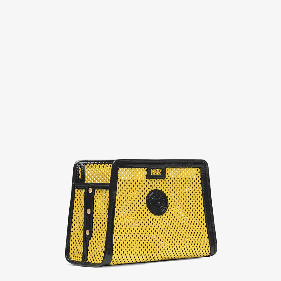 FENDI PEEKABOO DEFENDER PICCOLA - Cover per Peekaboo in pelle gialla - vista 2 dettaglio