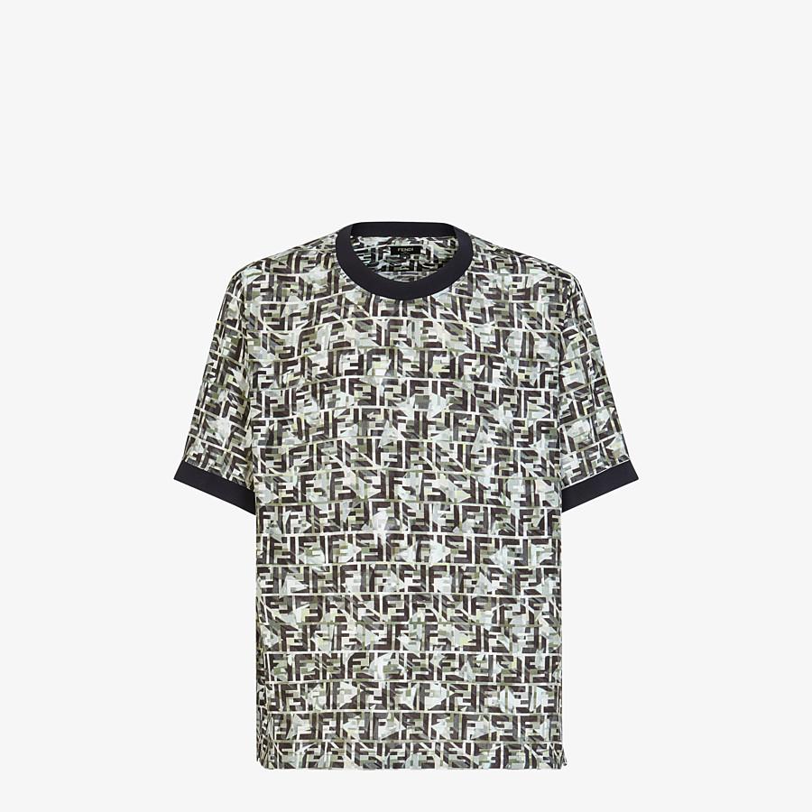 FENDI T-SHIRT - Multicolor viscose T-shirt - view 1 detail