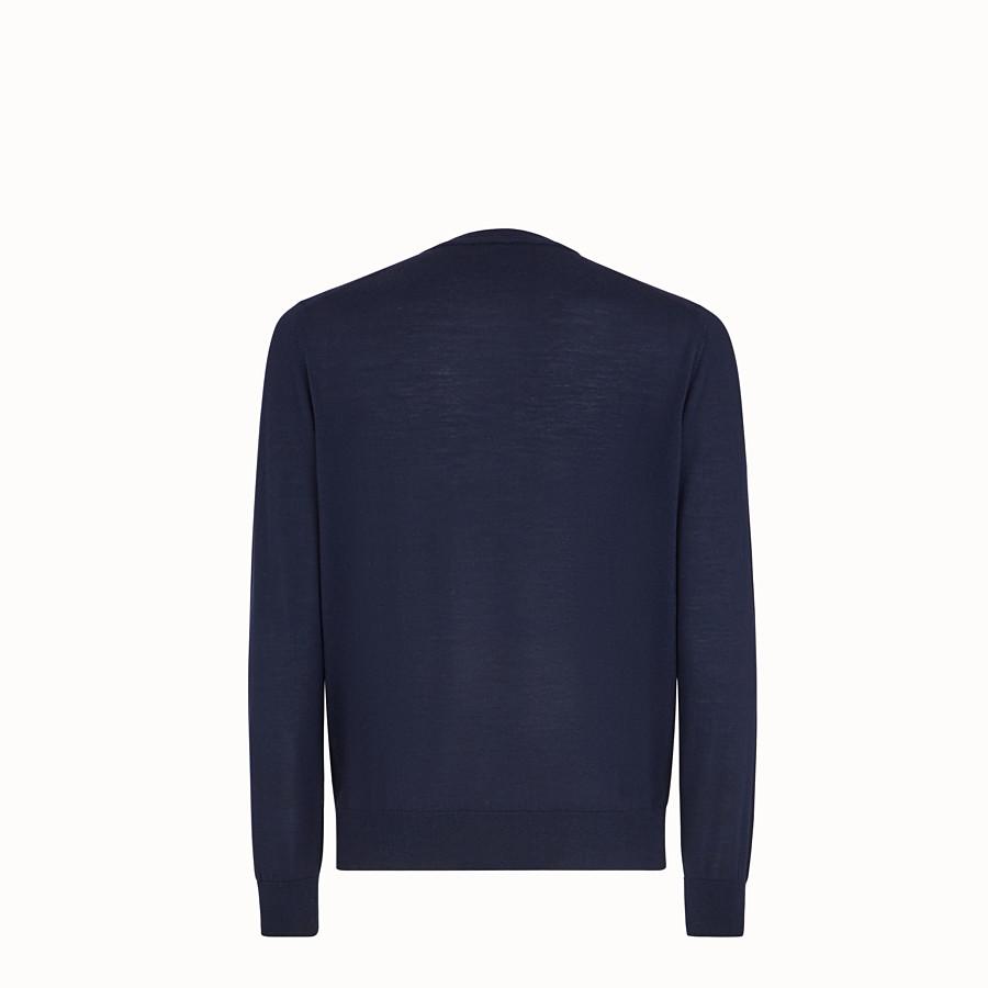 FENDI PULLOVER - Blue wool jumper - view 2 detail