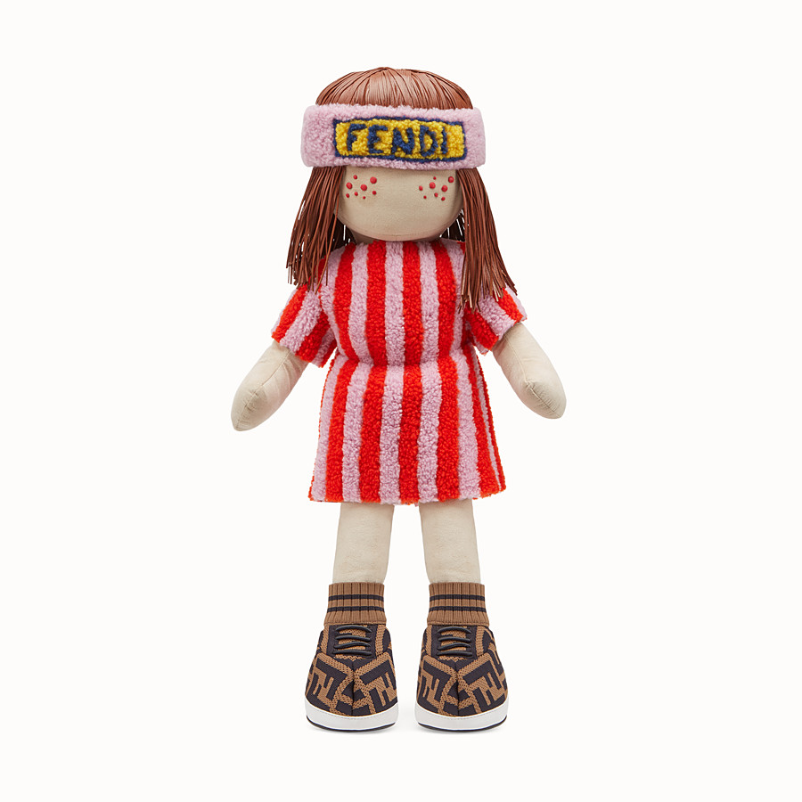 FENDI NUMBERED COLLECTABLE DOLL - Collectable doll in sheepskin and leather - view 1 detail