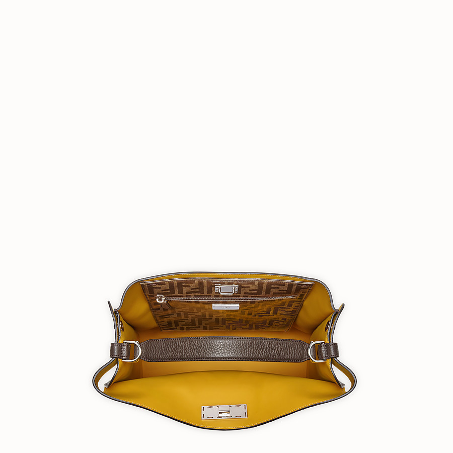 FENDI PEEKABOO X-LITE FIT - Brown leather bag - view 5 detail