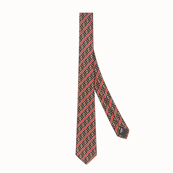 FENDI TIE - Silk tie. Width 6.5 cm - 2.6 inches - view 1 small thumbnail