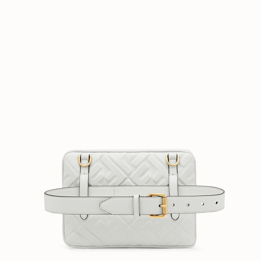 FENDI UPSIDE DOWN - White leather bag - view 3 detail