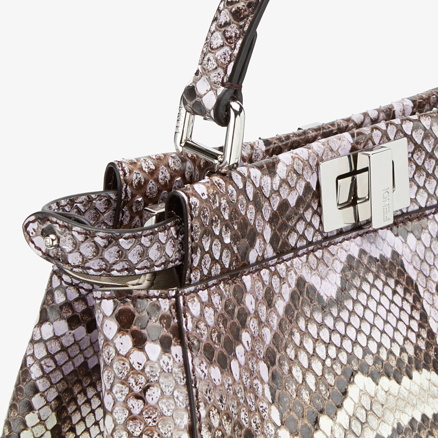 FENDI PEEKABOO ICONIC MINI - Python leather bag with graduated colors - view 5 detail