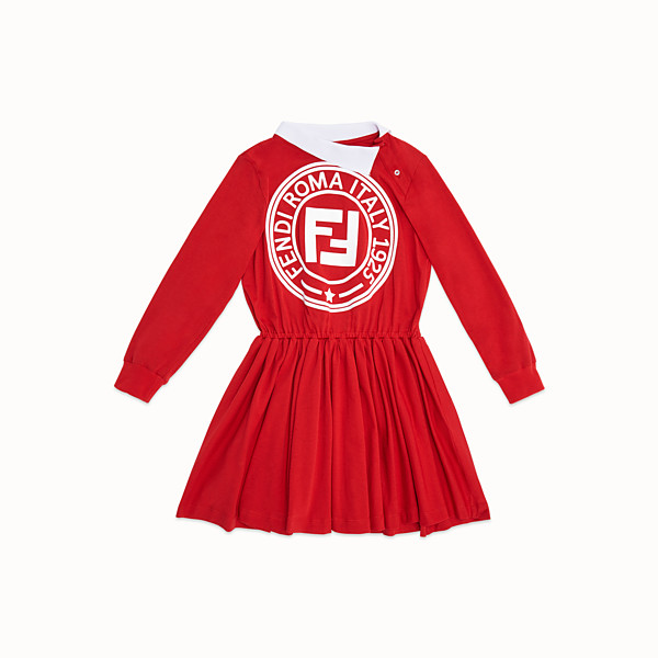 FENDI DRESS - Red jersey dress - view 1 small thumbnail