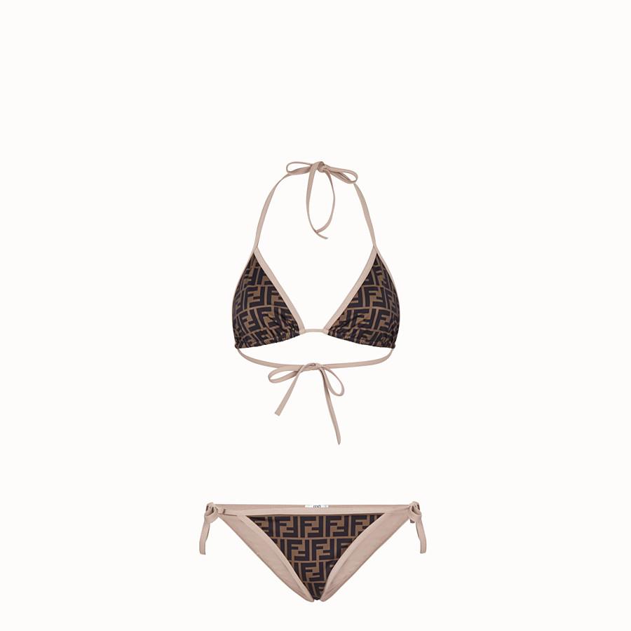 FENDI BIKINI - Brown Lycra® bikini - view 1 detail