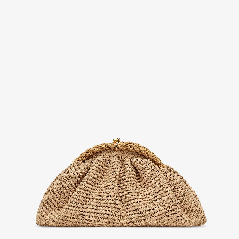 FENDI SHELL - Beige cotton-crochet pochette - view 1 detail