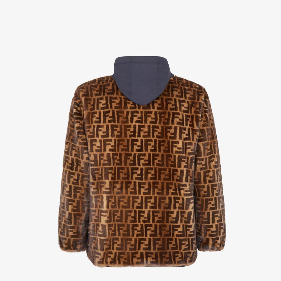 FENDI WINDBREAKER - FF mink and nylon FENDI x K-Way® jacket - view 2 detail
