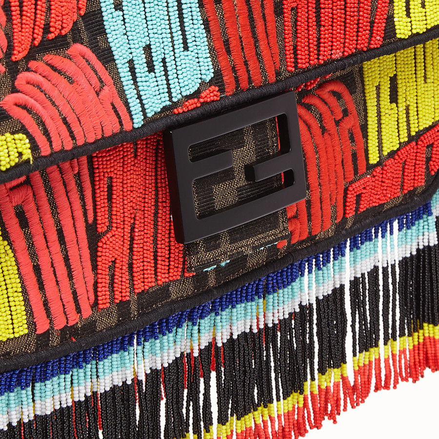 FENDI BAGUETTE - Fendi Roma Amor fabric bag - view 6 detail