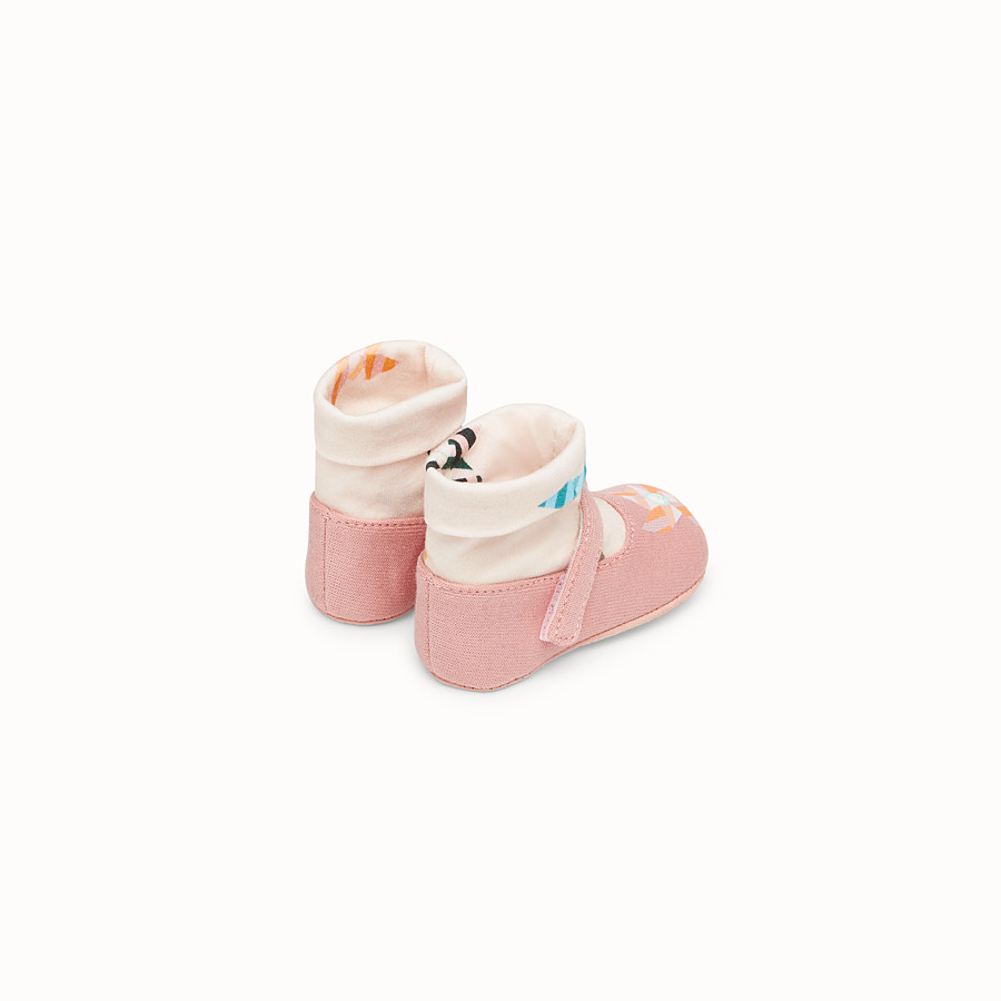 FENDI BABY SHOES - Pink fabric ballerinas - view 2 detail