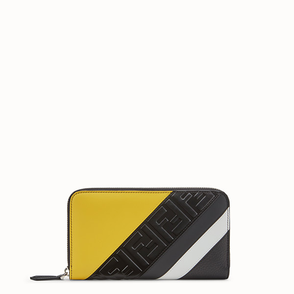 FENDI ZIP-AROUND - Black leather wallet - view 1 small thumbnail