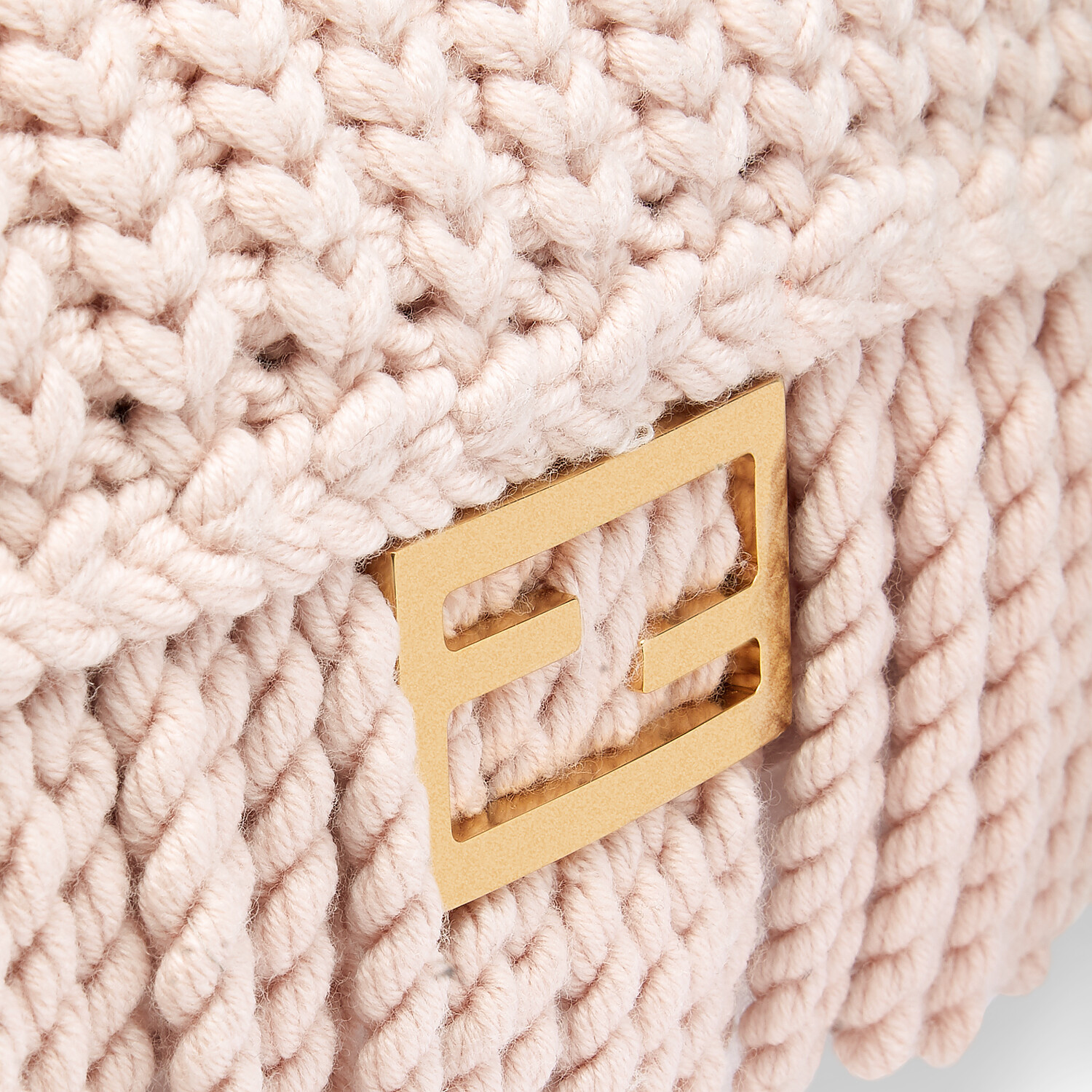FENDI BAGUETTE - Pink wool bag with fringes - view 6 detail