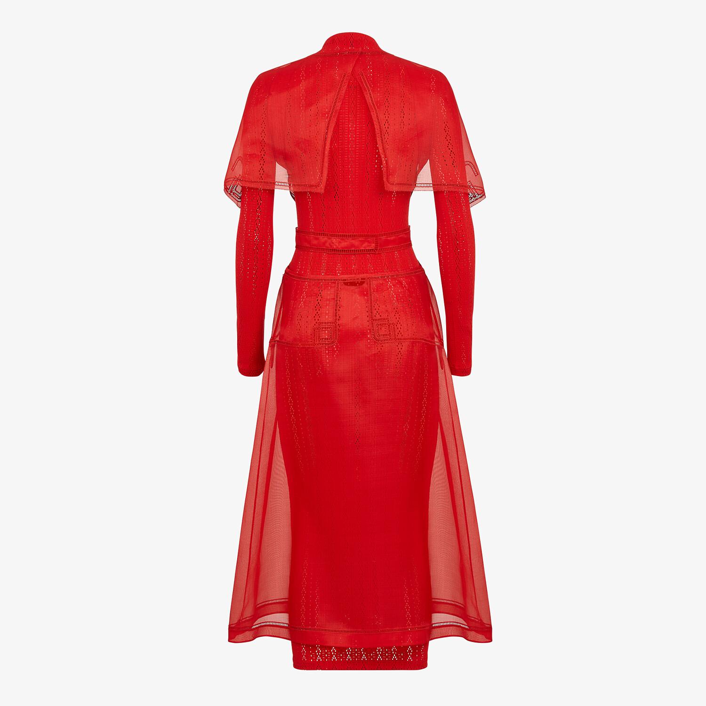 FENDI DRESS - Red silk dress - view 2 detail