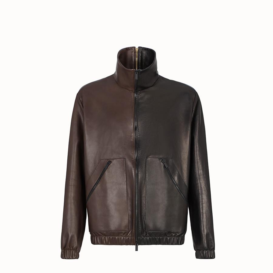 FENDI JACKET - Multicolour leather jacket - view 1 detail